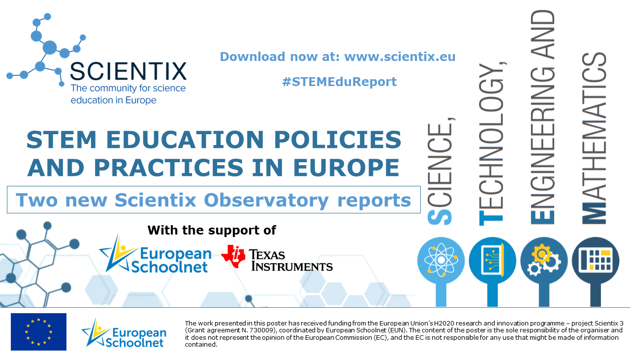 Scientix STEM Policies and Practices Reports 2018 - Slide 3